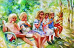 Ice Cream Girls - Limited Edition Giclee