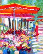 Monaco Flower Market - Limited Edition Giclee