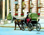 Plaze Horse & Carriage - Limited Edition Giclee