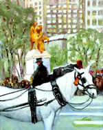 White Horse at the Plaza - Limited Edition Giclee